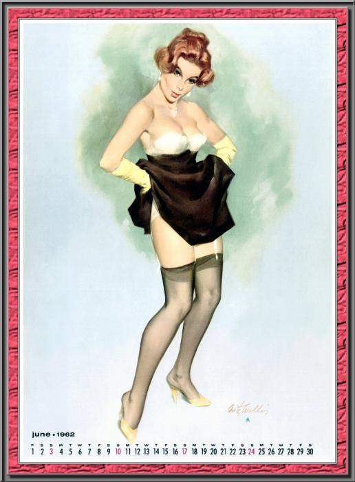 Calendar Girl June Read : Comprar posters artistas clásicos de pin ups retro vintage
