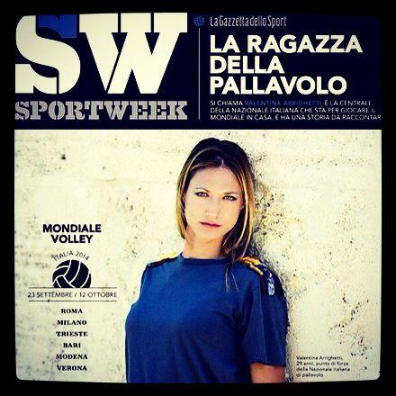 Valentina Arrighetti oggi è su Sportweek
