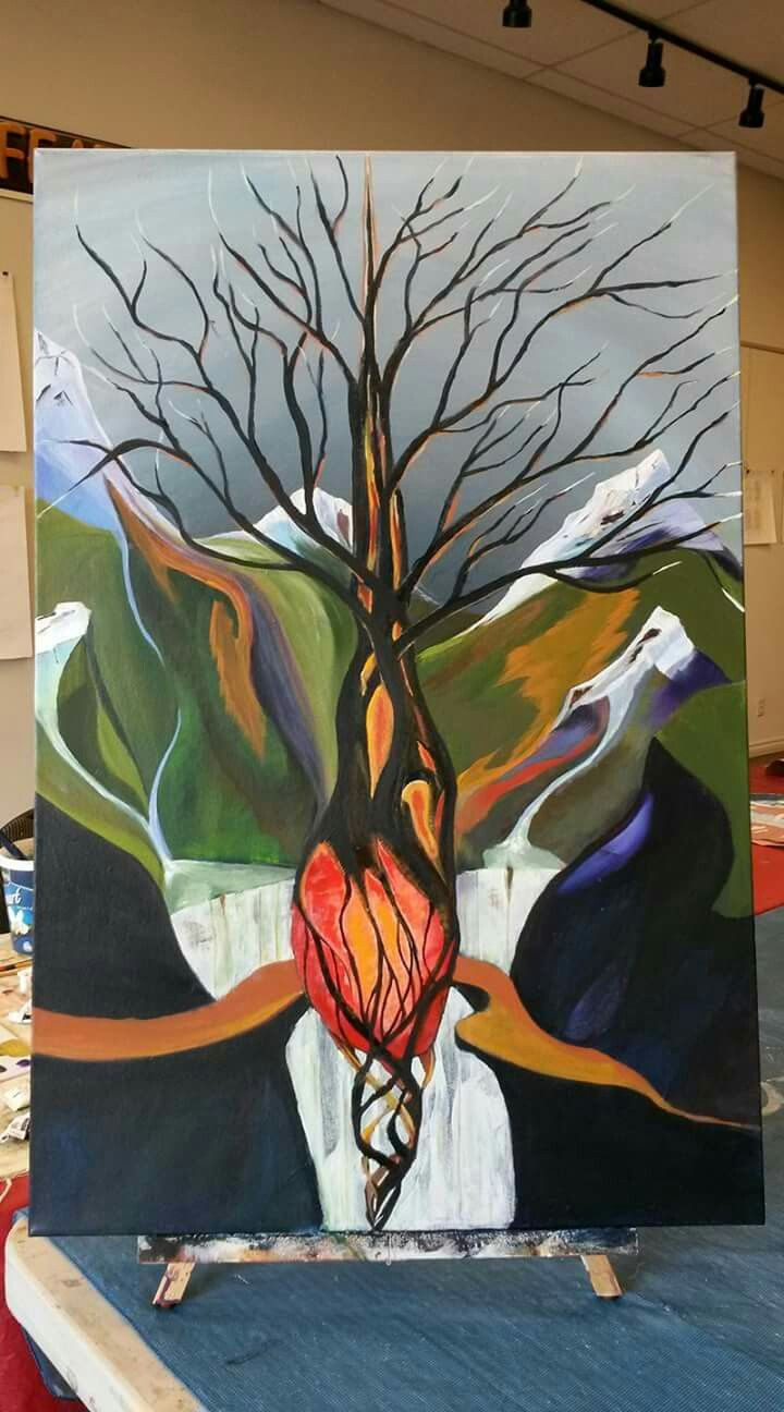 Heart tree Acrylic on stretched canvas 24x36