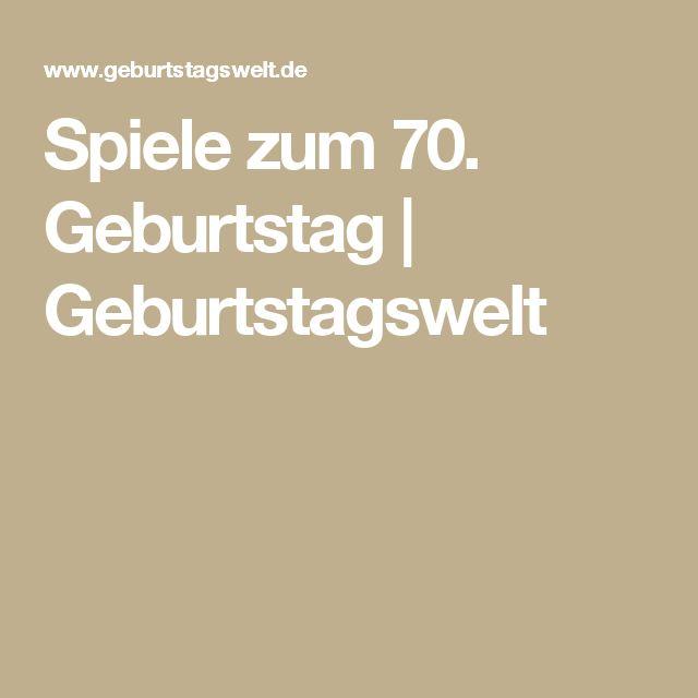 Spiele zum 70. Geburtstag | Geburtstagswelt