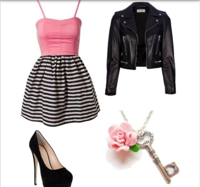 An Edgy Girly Outfit My Imaginary Closet Pinterest Teen Fashion Jackets And So Me
