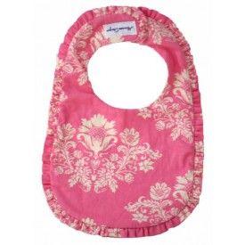 Alimrose Designs Ruffle Bib - Pink Toile