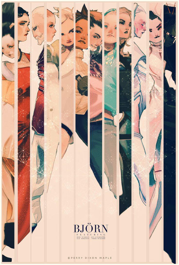 Bjorn Character Poster bi Perry Dixon Maple