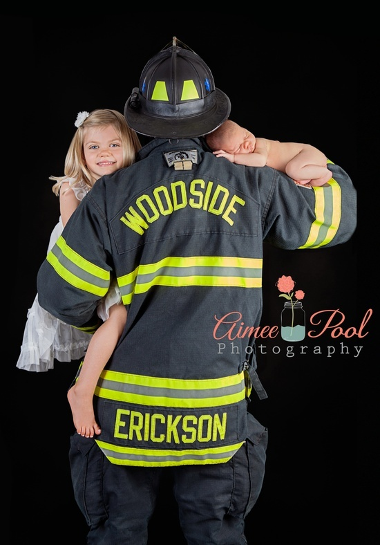 Newborn firefighter daddy santa cruz ca photographer santa cruz photographer newborn