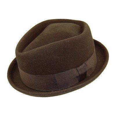 Hattar - Diamond Crown Pork Pie Hat (brun)