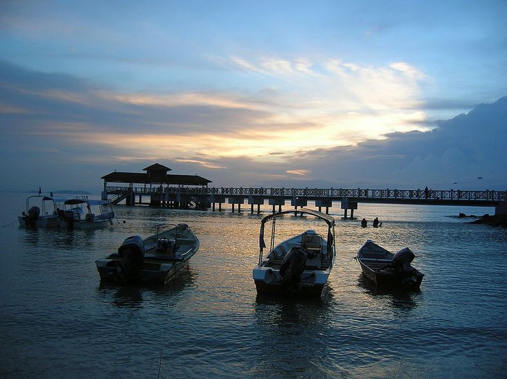 Sunset over Coral Bay, The Perhentian Islands, Malaysia