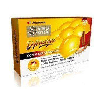Arkopharma Arko Royal Produits de la Ruche Dynergie Ginseng + Gelée Royale + Propolis 20 Ampoules 15 ml: phytothérapie Arko Royal…