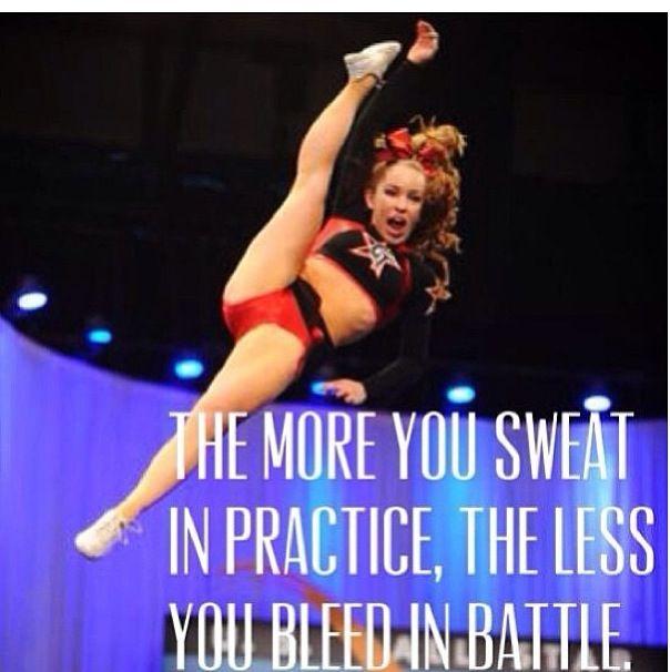 Cheerleading. Inspirational quote.