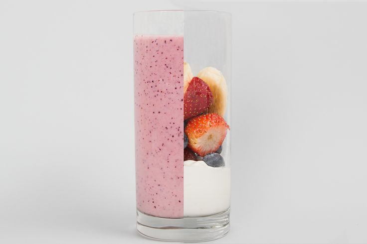 34 Healthy Breakfasts for Mornings on the Run: Fruit and Yogurt Smoothie