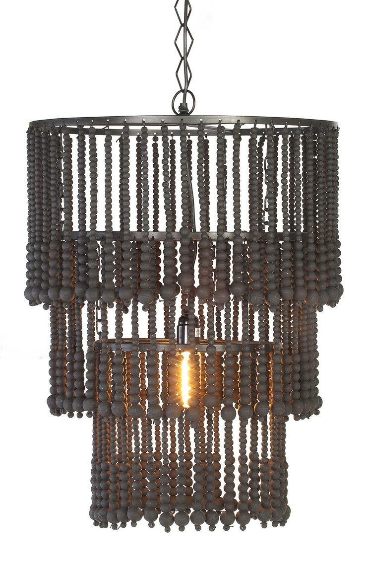 Hanglamp Wooden Chandelier Black | Rofra Home