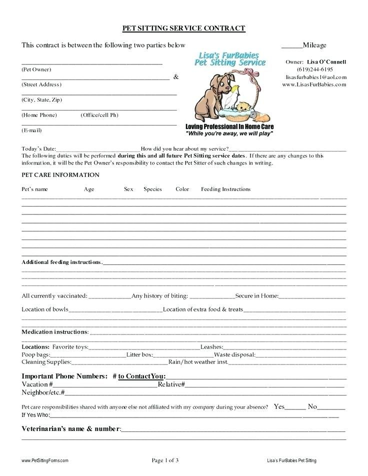 Pet Sitting Report Card Template Doggy