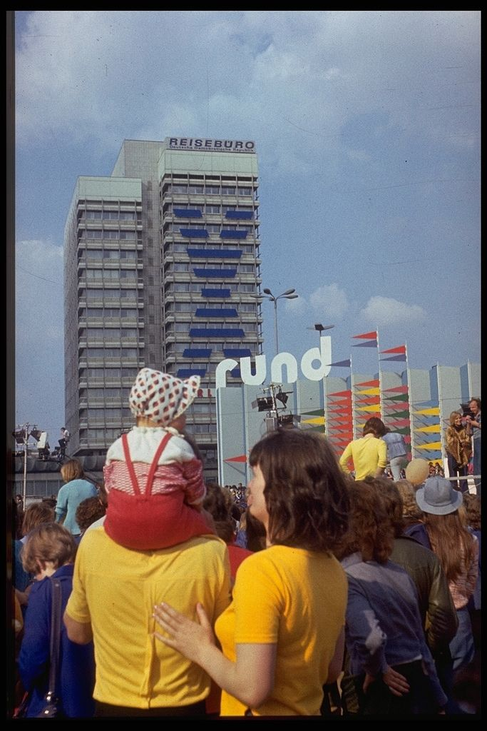 Alexanderplatz, East Berlin, East Germany, 1982, photograph by Lutz Schramm.
