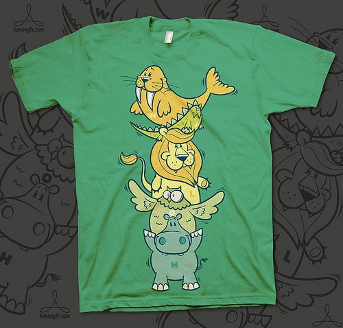 T-Shirt design for WILOH - Ecosocial Apparel, USA  Each animal depicted represents one letter of the company name (walrus-iguana-lion-owl-hippo)  Available through www.wiloh.com  [Copyright: WILOH - Ecosocial Apparel]  ------------------------------- This Hangout is a one-of-a-kind new music celebration which {takes pla