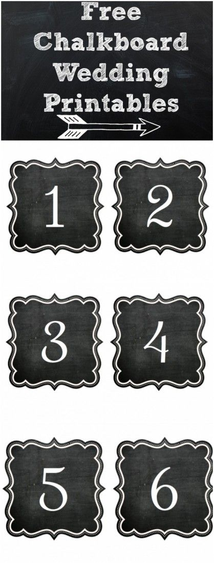 Chalkboard number printables. Great for any occasion, decor or organization.