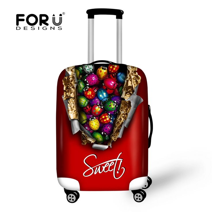 New 3D Cute Scarab Trolley Travel Luggage Cover Stretch Suitcase Protective Cover Apple18-30 Inch Case Stretch Luggage Covers