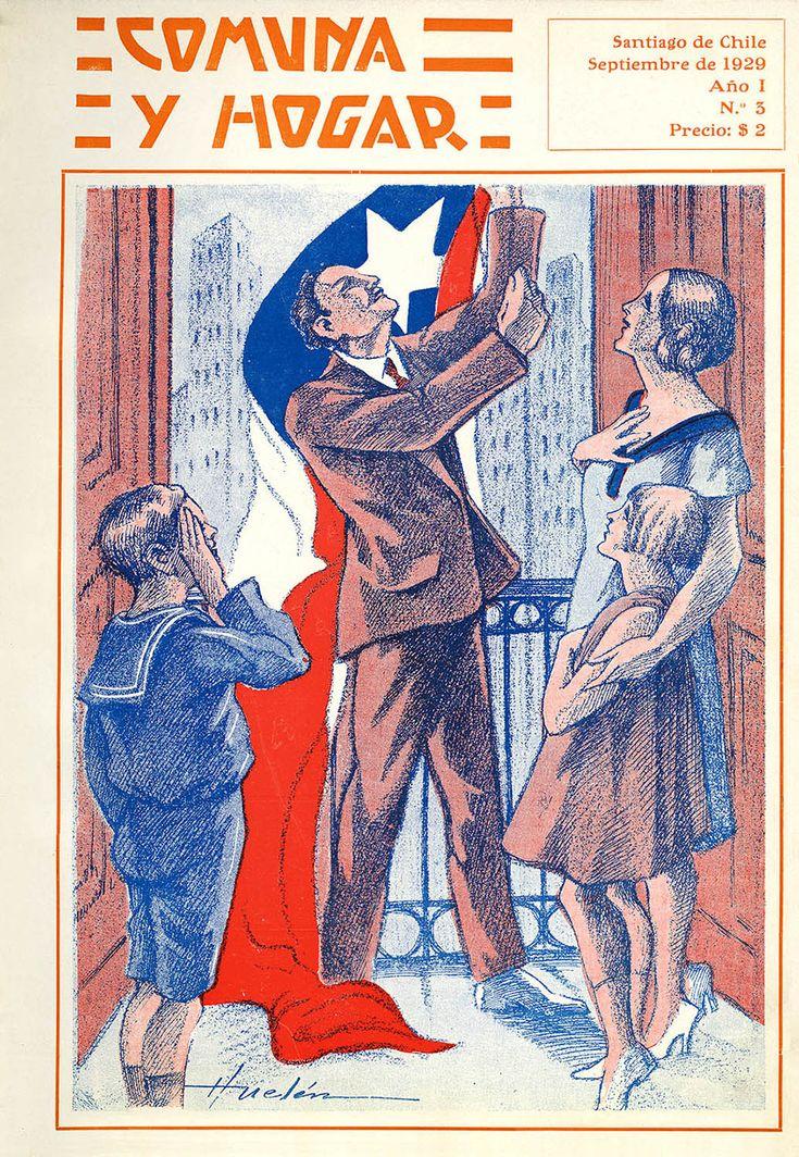 Revista Comuna y Hogar Portada Revista Comuna y Hogar Año: 1929 Autor: Juan Francisco González (Huelén) Lugar: Santiago Archivo: Biblioteca Nacional de Chile