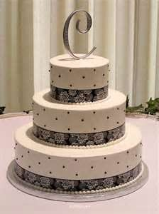 Letter Topper Dotted And Laces Wedding Cake Ideas