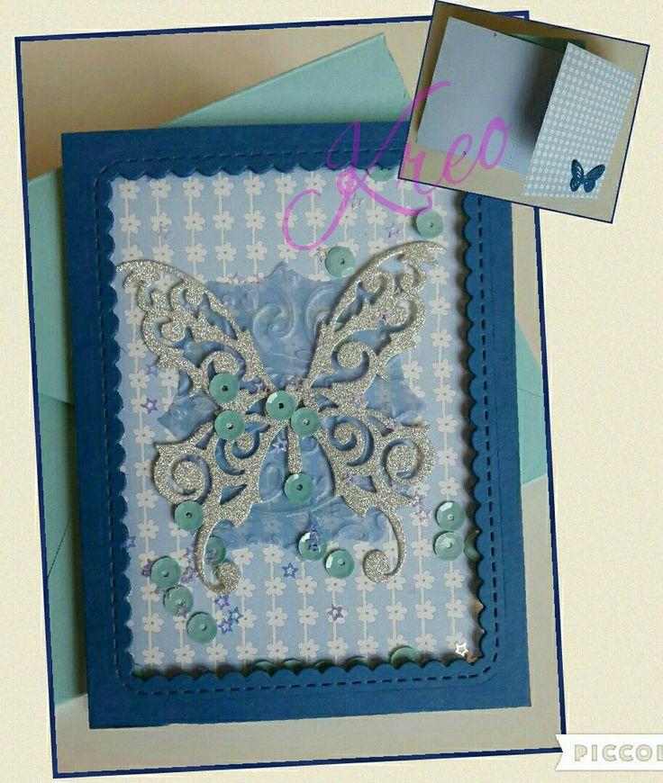 Shaker Card con farfalla.