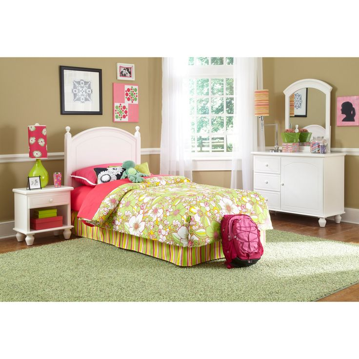 Powell White Twin Bedroom in a Box - 929-189