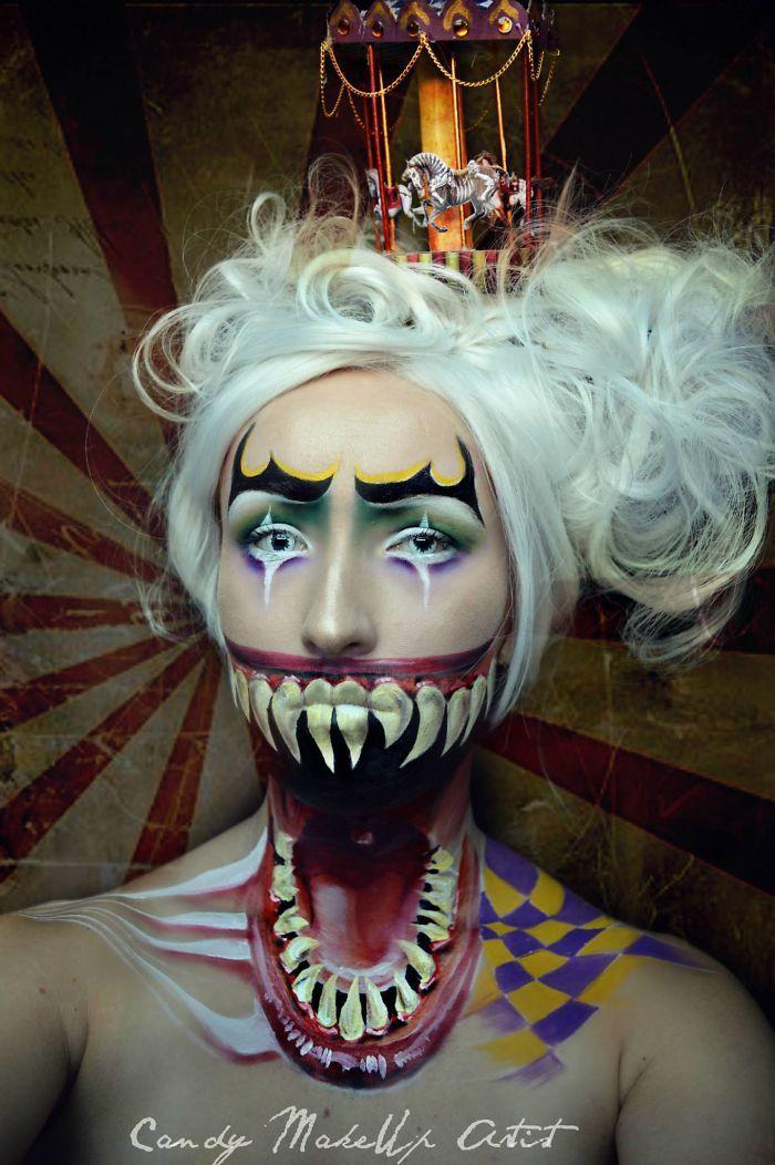 Joyce Spakman superbes et terrifiants maquillages 10
