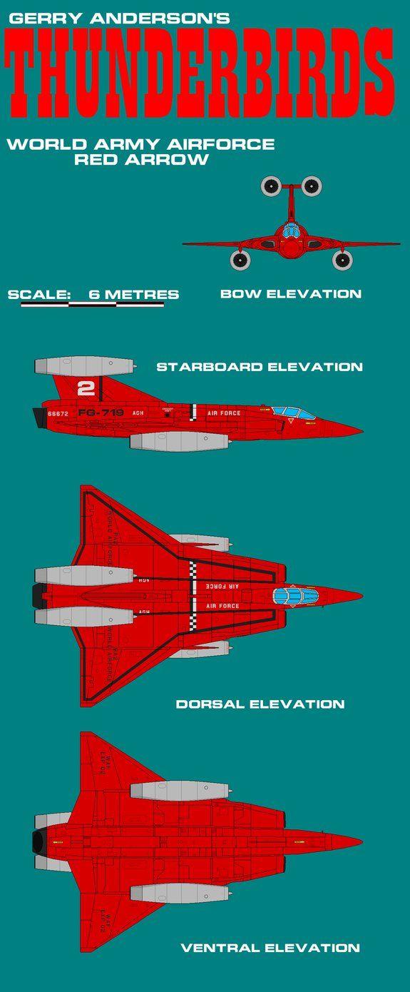 Gerry Andersons Thunderbirds Red Arrow by ArthurTwosheds.deviantart.com on @DeviantArt