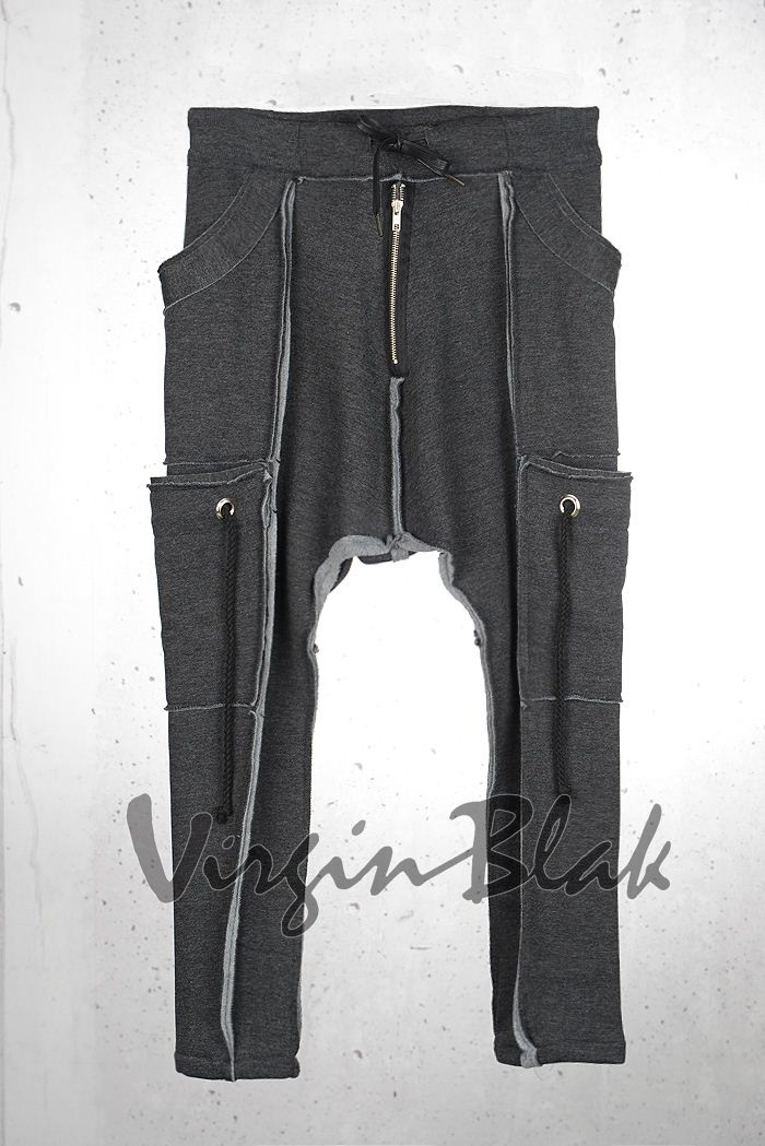 Bottom :: Pants / Trousers :: Deconstructed Multi Pocket Baggy Skinny Sweat Pants 6PU -