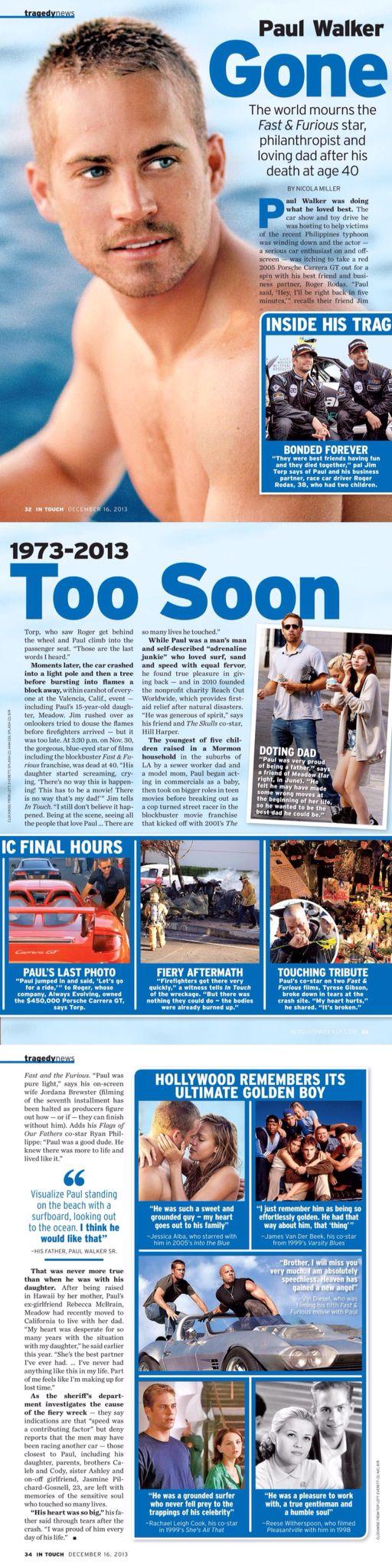 In Touch magazine 16th Dec 2013