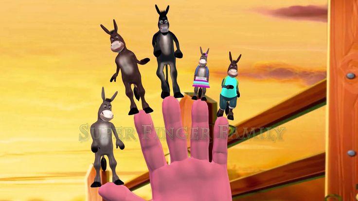 donkey | 3d nursery rhymes for children | finger family song for children