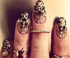 can nails be steampunked? - sure!!! LOL