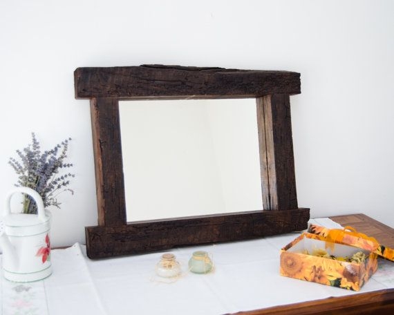Unique mirror Wood design Interior decor Rustic mirror by mbframes - Best 20+ Rustic Mirrors Ideas On Pinterest Farm Mirrors