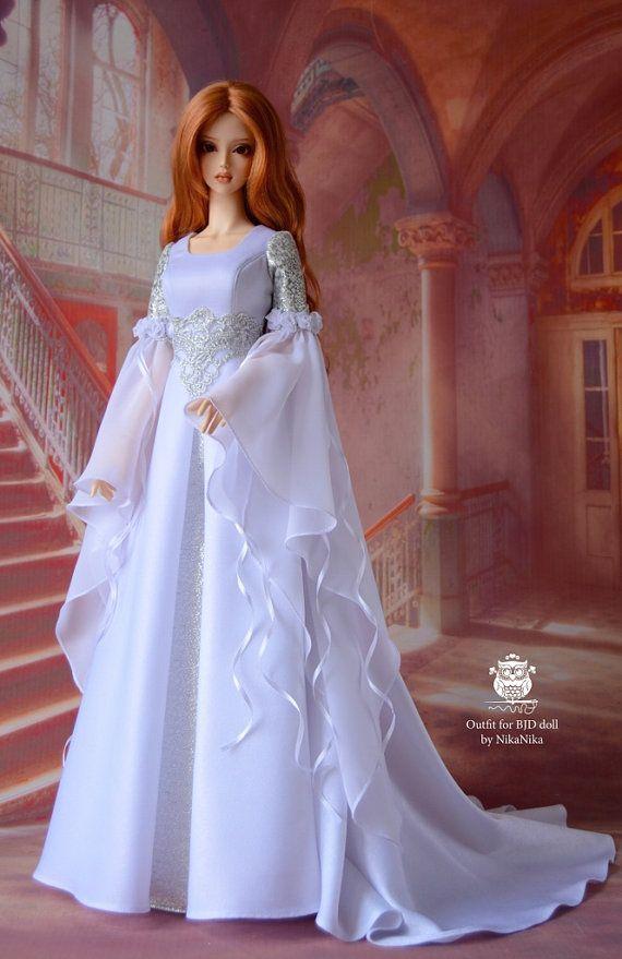 BJD ropa, vestido de la muñeca. Pre orden! Vestido de elfo de muñeca de bjd SD, muñeca de bjd, vestido de bjd.