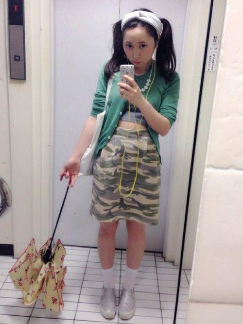 ゆのみ PAGEBOYのスカートを使ったコーディネート - WEAR ゆのみさんの「カモフラタック ...