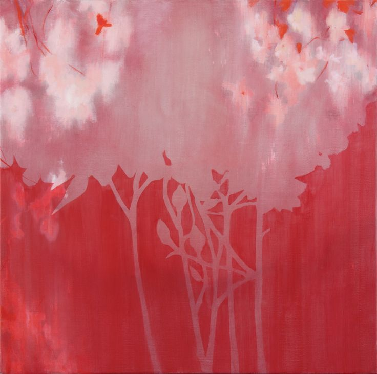 2014 Blotted out blossoming oil on canvas