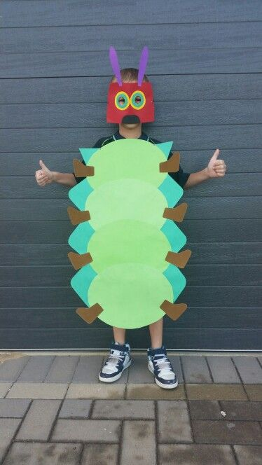 Hungry Caterpillar Costume my son and I made for his school assembly! he absolutely ROCKS it! Xx