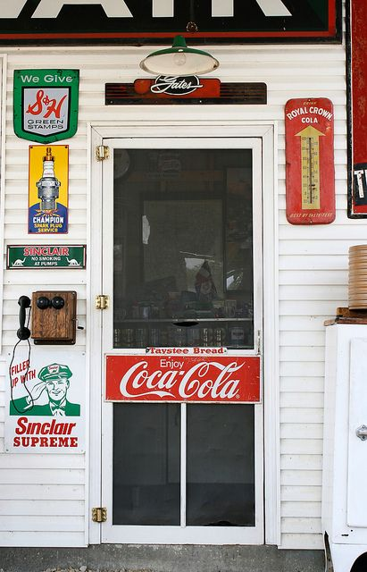 Corner grocery stores... When you would walk in you would hear a fan running and the screen door shut then the sound of the store keepper shuffling over to you!