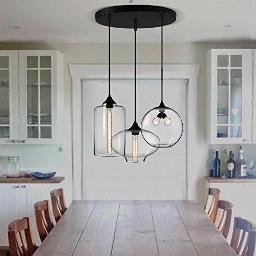 CJLOVE Fashion Modern Vintage Industrial Pendant Light LED E27 Lamp Base for Living Room Dining Room Study Room Decor Lighting [Energy Class A+++]
