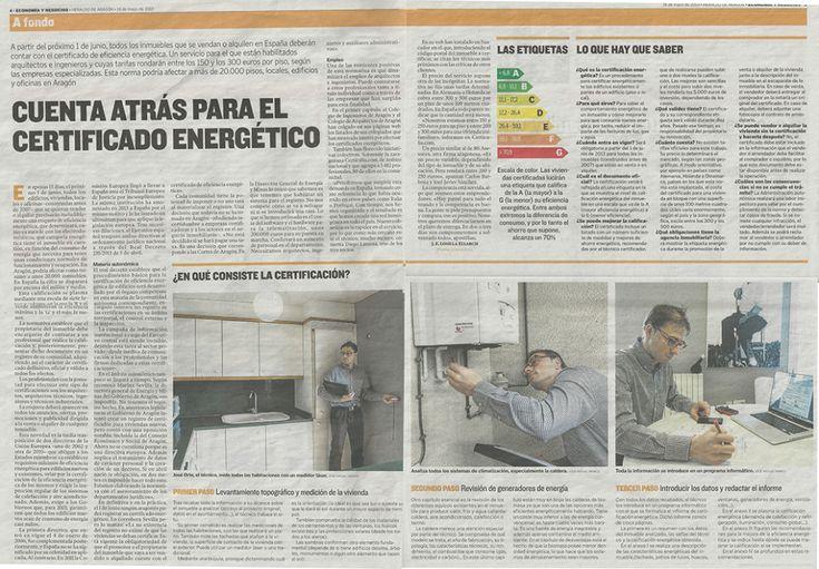 Certicalia en Herado de Aragón sobre el Certificado Energético. Toda la info en http://www.certicalia.com/