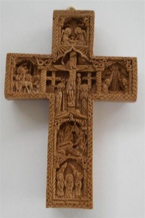 Small Cross with details from Christ's Passion 9cm x 14cm (3.54inches x 5.51inches)