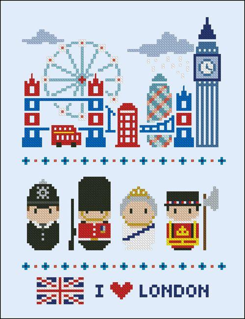 Iconos de Londres gente de Mini mundo PDF cruz por cloudsfactory