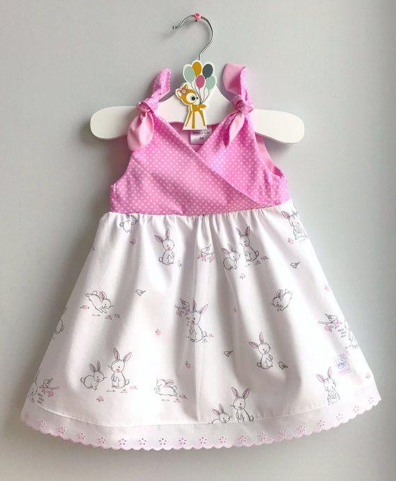 61f5531b083ed Girls Easter Dress, Pink Easter Dress, Girls Bunny Dress, Cute ...