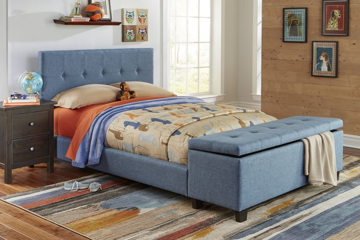 Henley Fashion Kids™ Storage Bed by Fashion Bed Group -- The versatile Henley bed offers multiple storage options and upholstery colors for optimum personalization.