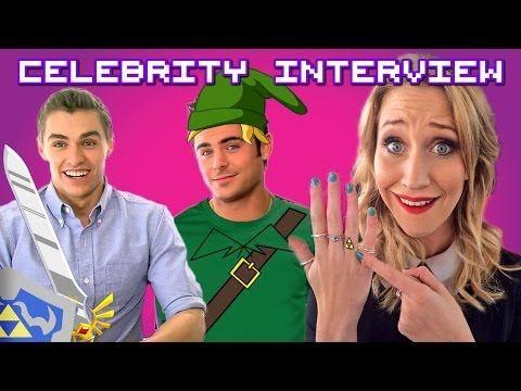 Zac Efron & Dave Franco talk Legend of Zelda & the Triforce with Maude Garrett