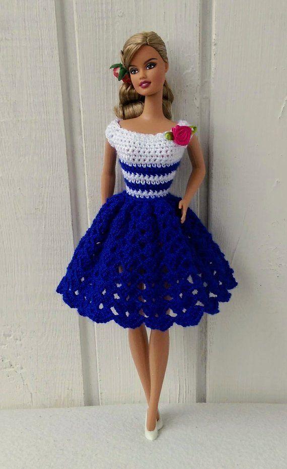 Barbie clothes Barbie Crochet Dress for Barbie Doll | Etsy – #barbie #clothes #C…