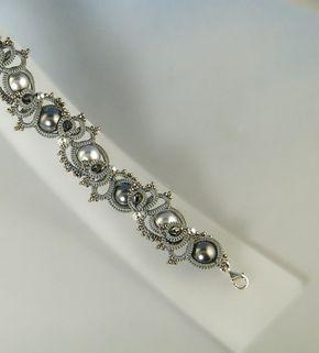 Astrid needle tatted bracelet pattern di Happyland87 su Etsy
