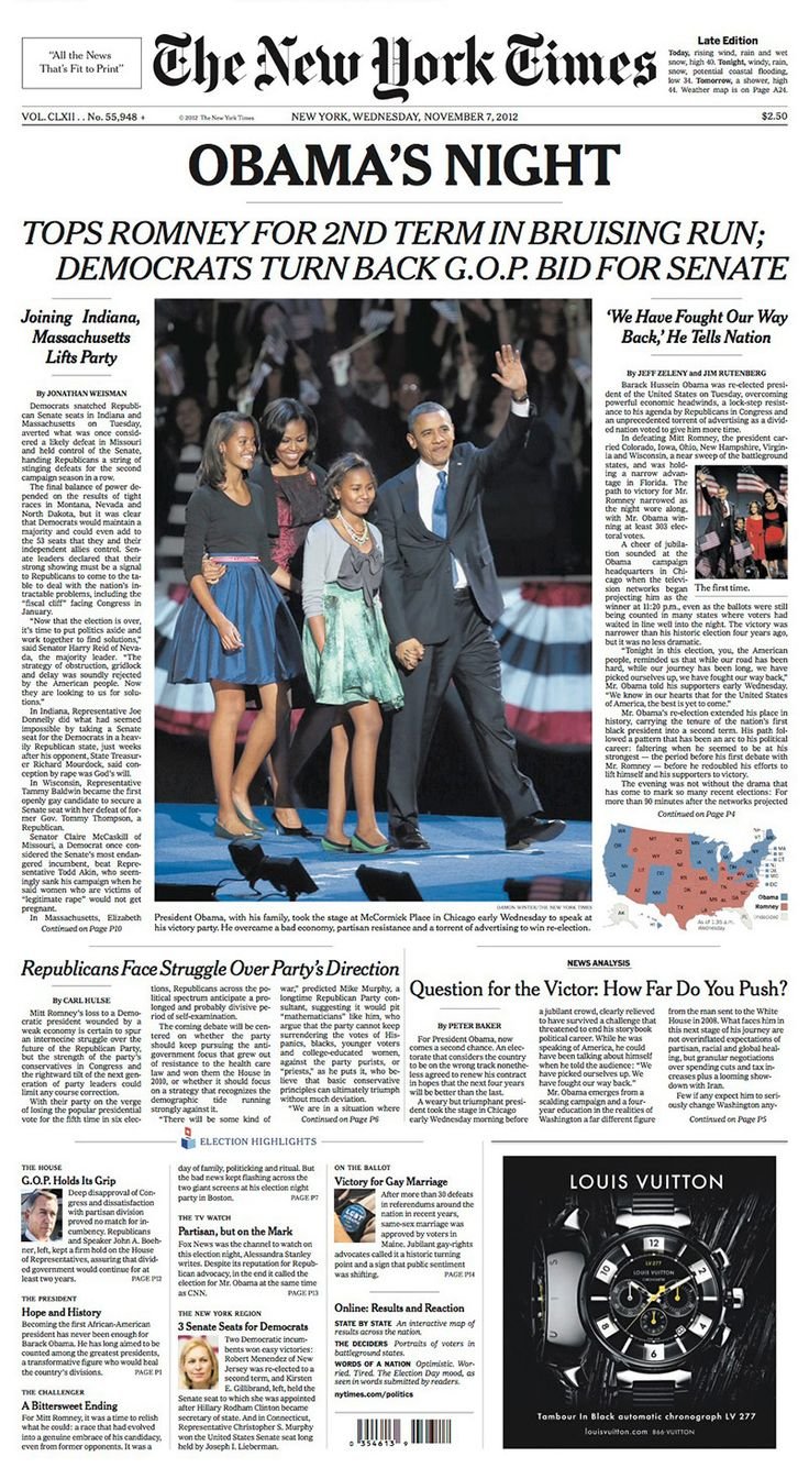 Times front pages through the decades:  a look at coverage since the election of Franklin Pierce, with observations by the presidential historian Michael Beschloss.