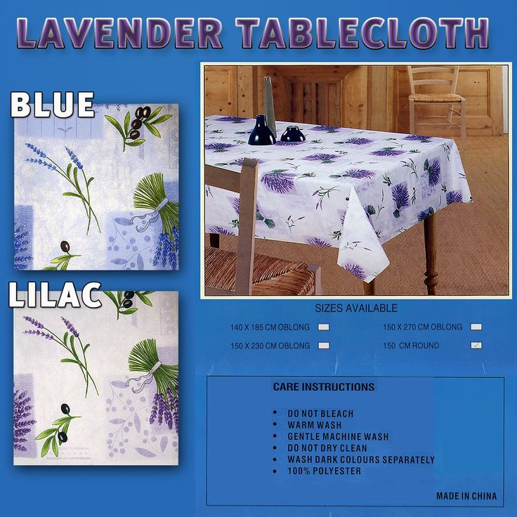 Table cloths for dinning rooms and kitchen