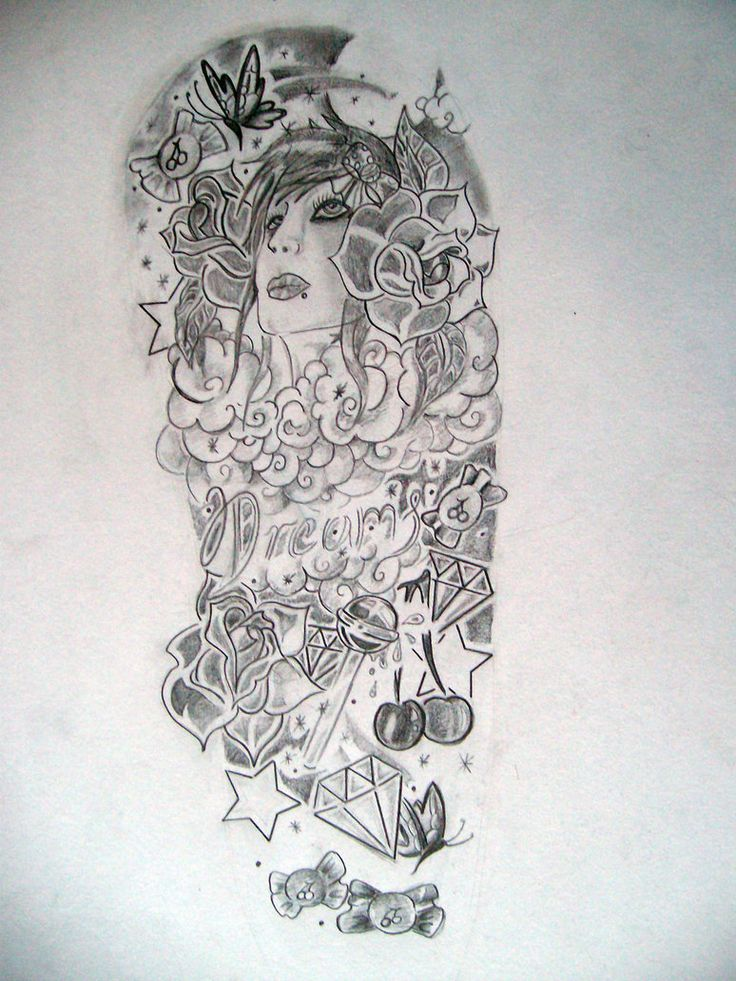 Half sleeve tattoo designs for women sketch google for Drawing design ideas