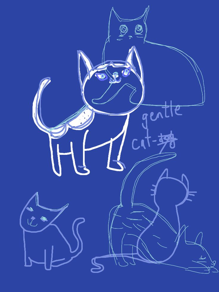 Gentle Cat © Laura Eades 2013 - after Julia Kuo Big Draw October Draw with me challenge