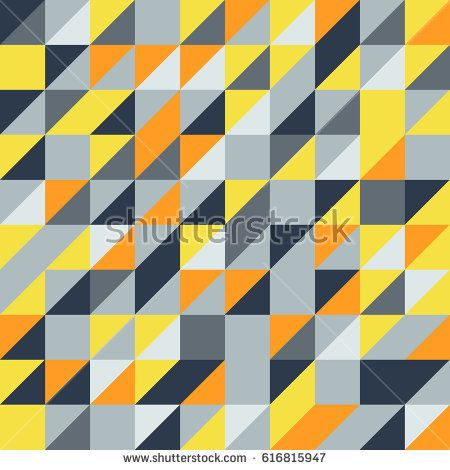 Vector blue-yellow abstract triangle seamless pattern texture background