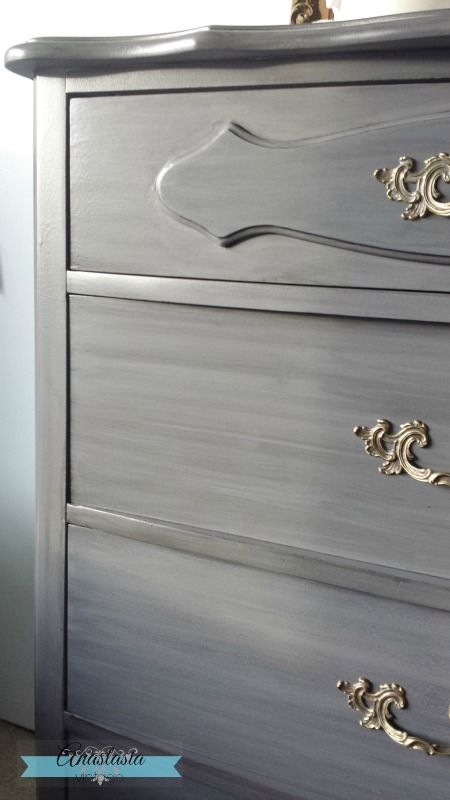 Create a Restoration Hardware Finish with General Finishes Milk Paint & Glaze Effects | Anastasia Vintage